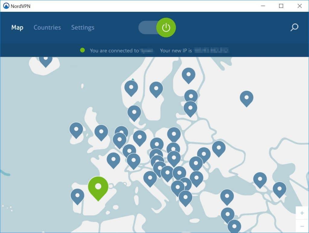Serwery NordVPN w Europie