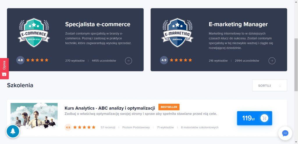 Strefa Kursów - kursy Google Analytics