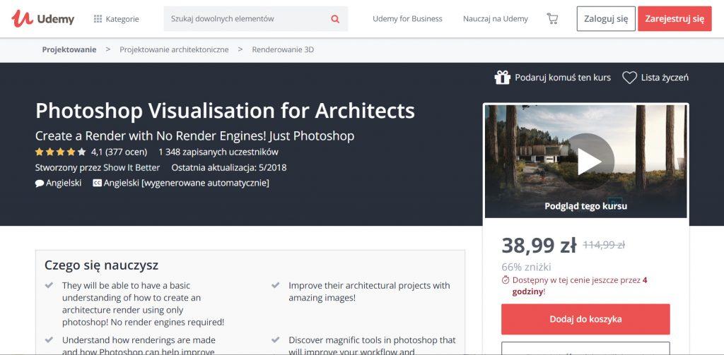 Udemy - Photoshop visualization for architects